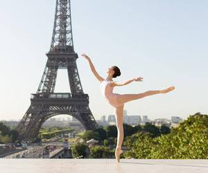 ballerina, girl, and pointe image
