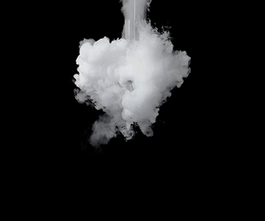 smoke, black, and black and white image
