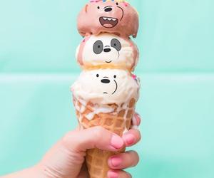 ice cream, bears, and food image