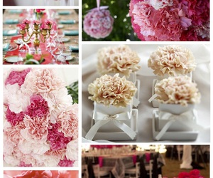 carnation, centerpieces, and Collage image