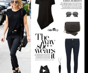 emma roberts, outfit, and Polyvore image