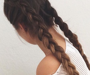 adorable, braid, and tumblr girl image