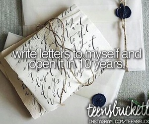 letters, working on it, and bucket list image