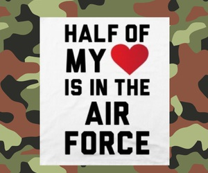 air, heart, and air force image