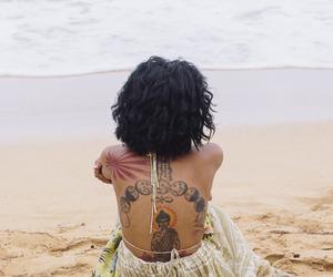 tattoo, beach, and jhene aiko image