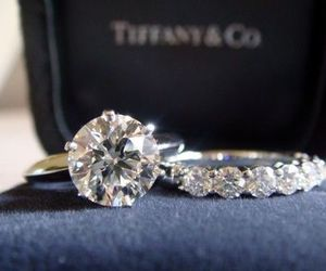 ring, diamond, and tiffany image