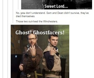 supernatural, ghostfacers, and dean winchester image