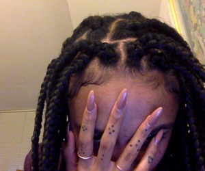 nails, braids, and grunge image