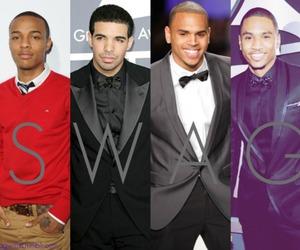 swag, chris brown, and Drake image