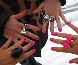 pink, nails, and rings image