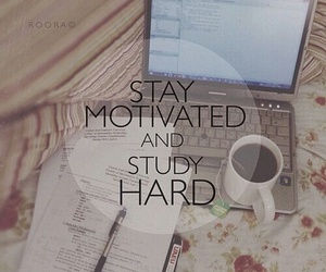 coffee, computer, and motivation image
