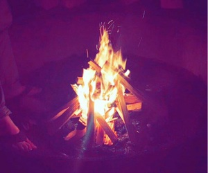 bonfire, cold, and cozy image