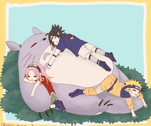 sasuke uchiha, naruto uzumaki, and sakura haruno image