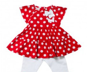 red and white dress image