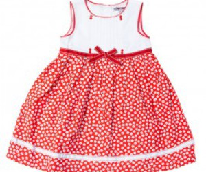 red and white baby dress image