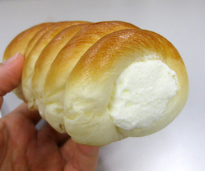 bread, cream, and food image