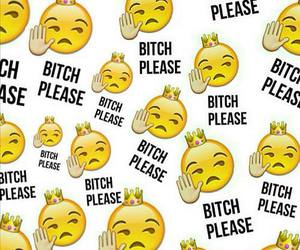 emoji, bitch, and wallpaper image