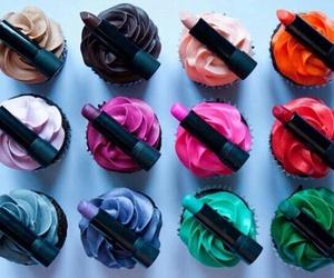 lipstick, color, and cupcake image