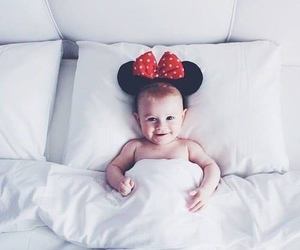 baby, cute, and bed image