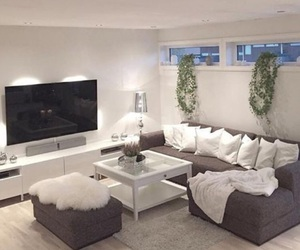 basement, living room, and decor image
