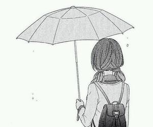 manga, anime, and umbrella image