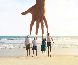 hand, beach, and people image