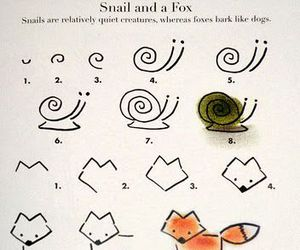 drawing, fox, and tutorial image