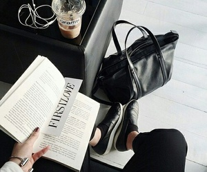 book, fashion, and black image