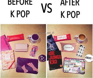before and after, exo, and kpop image