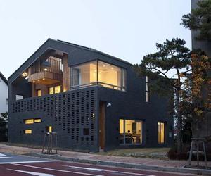architecture, brick, and brick house image