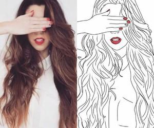 art, face, and long hair image