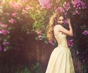 dress, flowers, and princess image