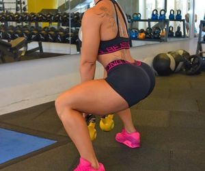 fit, squats, and fitness image