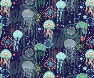 pattern and jellyfish image
