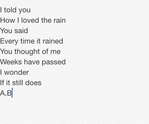 poems, quotes, and rain image