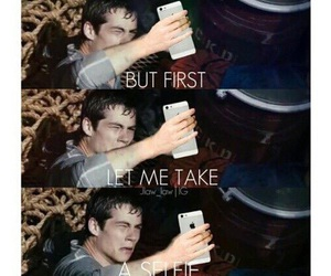 dylan o'brien, selfie, and maze runner image