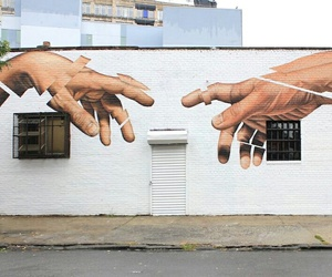 art, hands, and street art image