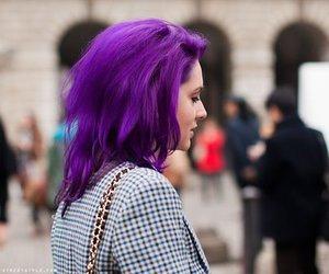 alternative, girl, and purple hair image