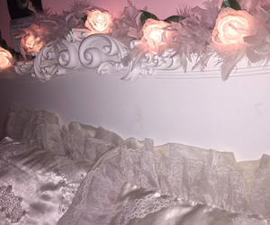 pink, rose, and bedroom image