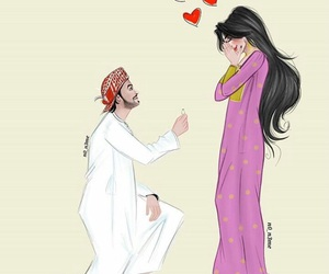 arab, couple, and middle east image