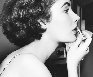beauty, Elizabeth Taylor, and lipstick image
