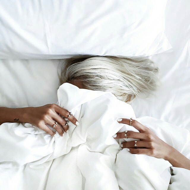 hair, white, and bed image