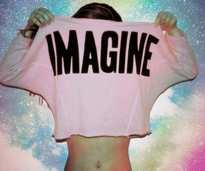 imagine, girl, and pink image