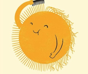 sun, yellow, and funny image