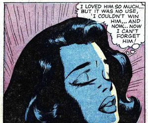 comic, crying, and pop art image