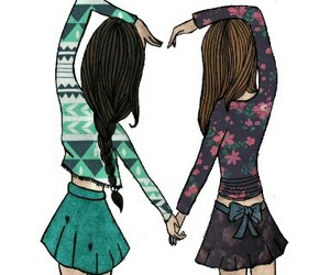 friends, heart, and bff image
