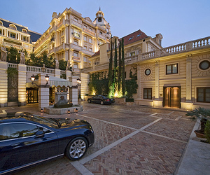 luxury, house, and car image