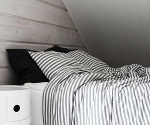 bed, black, and grey image