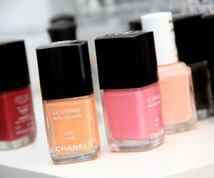 nails, chanel, and nail polish image