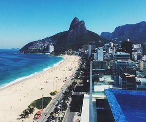 beach, rio, and brazil image